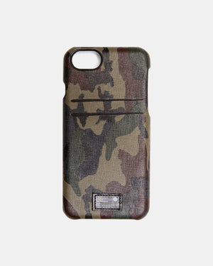 HEX - iPhone X Camo Leather Solo Wallet (Camo)