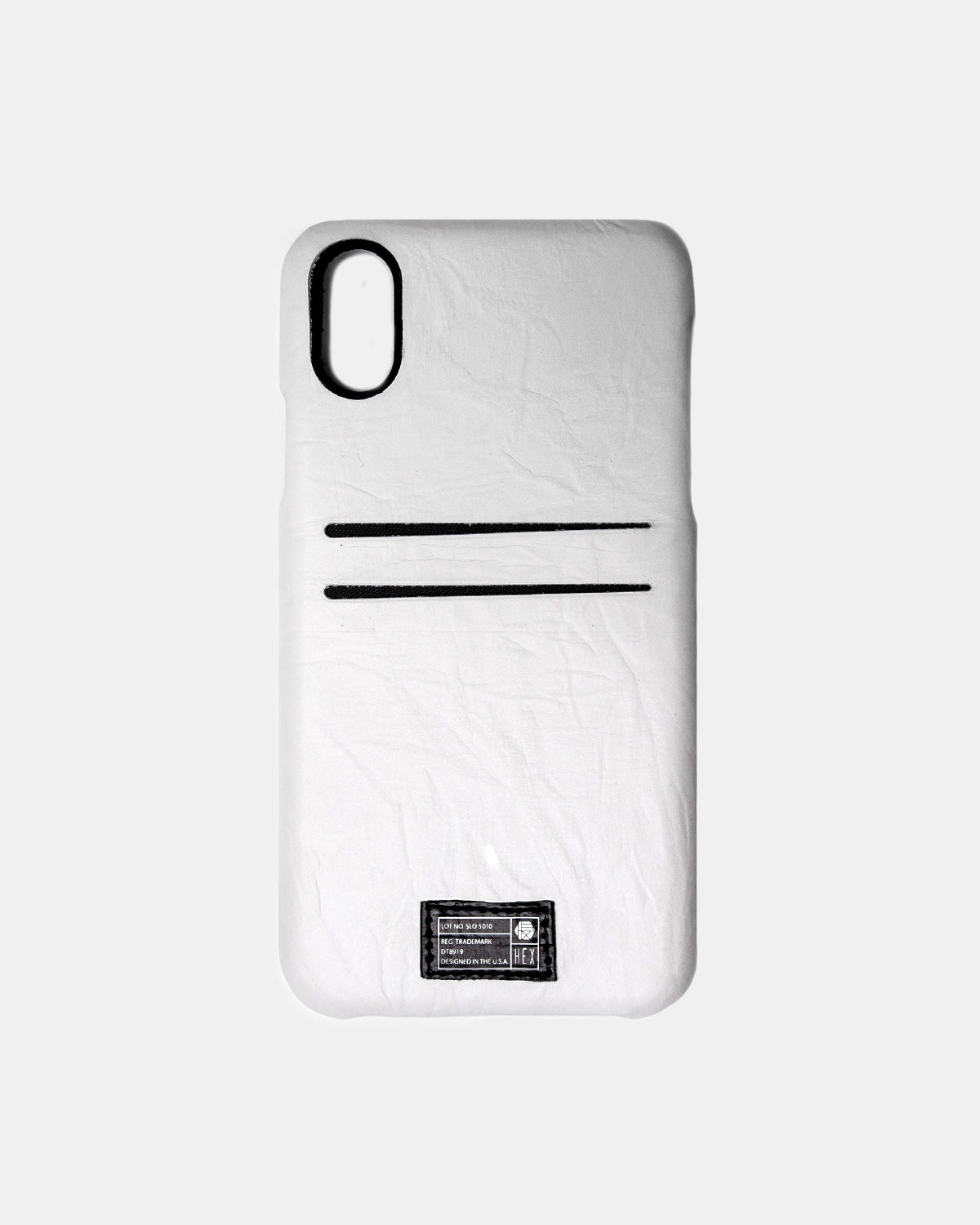 HEX - iPhone X Parchment Leather Solo Wallet (White)