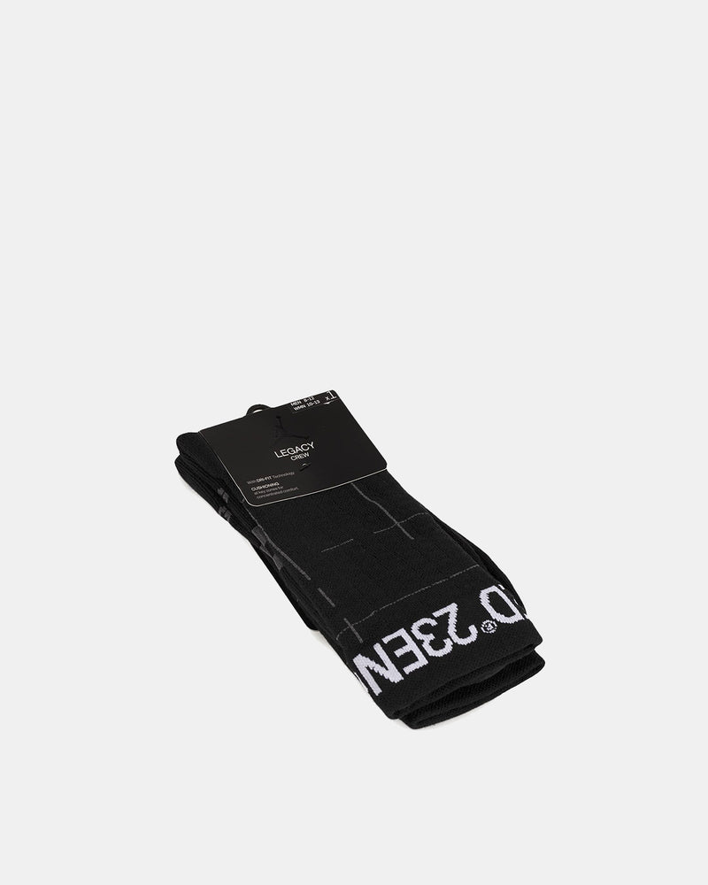 Jordan Brand - 23 Engineered Legacy Crew Socks (Black | Grey)