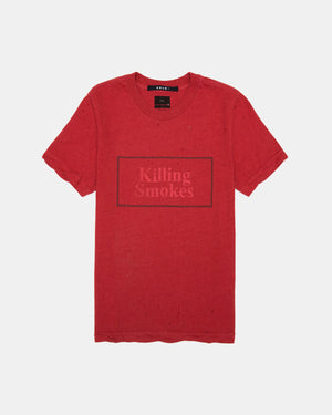 Ksubi - Women's Killing Smokes Short Sleeve Tee (Vamp Red)