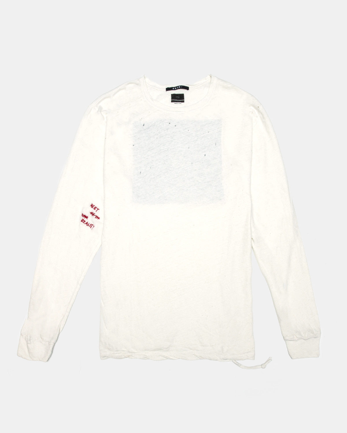 Ksubi - Caring Long Sleeve Tee (Worn in White)