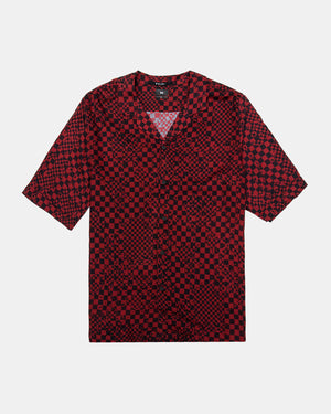 Ksubi - Check Mate Short Sleeve Resort Shirt (Red | Black)