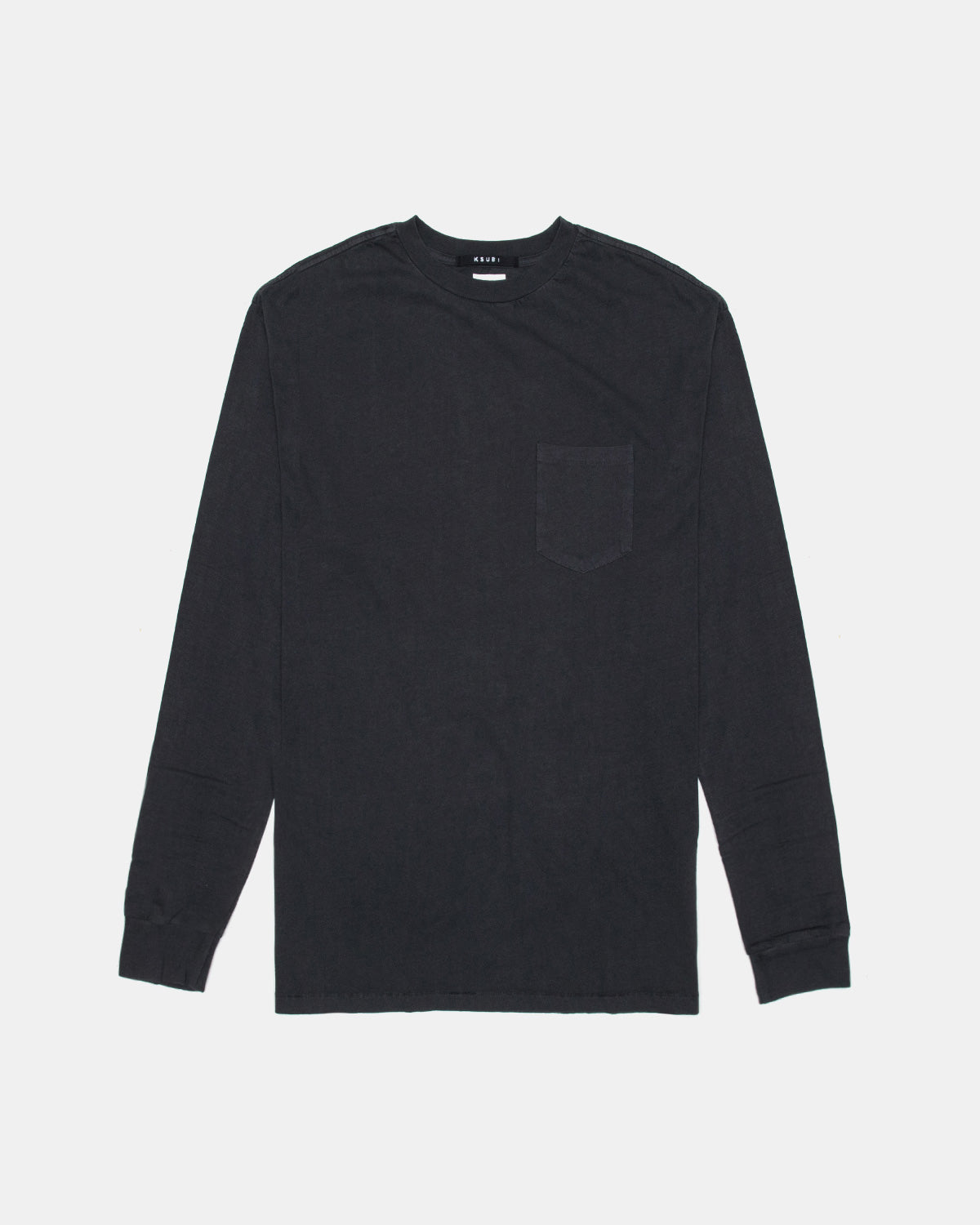 Ksubi - Cache Pocket Long Sleeve Tee (Back to Black)