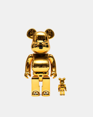 Medicom Toy - Nya Gold Plated Version 100%/400% Be@rbrick Set (Gold)