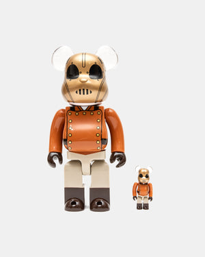 Medicom Toy - Rocketeer 100%/400% Be@rbrick Set (Brown)