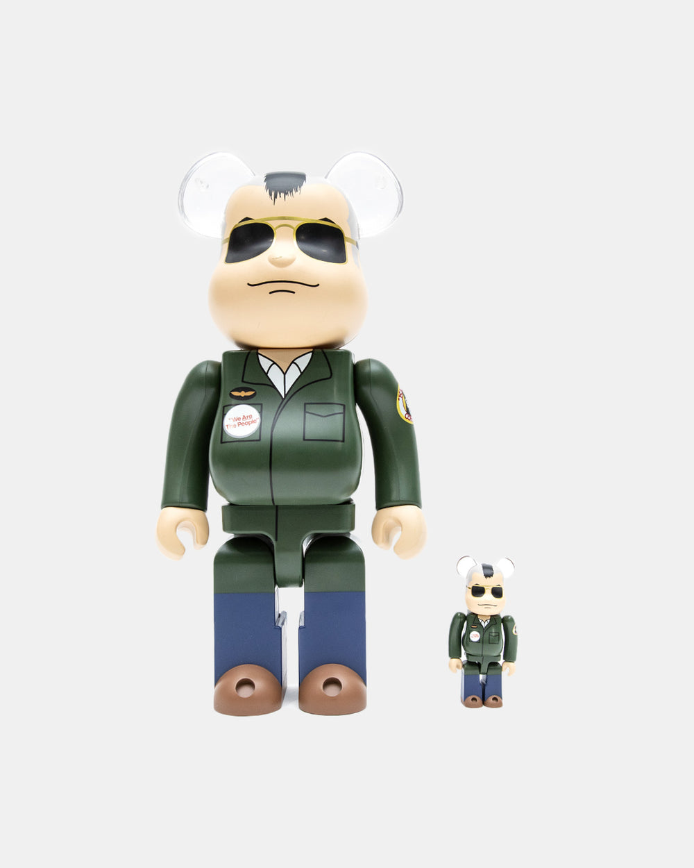 Medicom Toy - Taxi Driver Travis Bickle 100%/400% Be@rbrick Set (Olive)