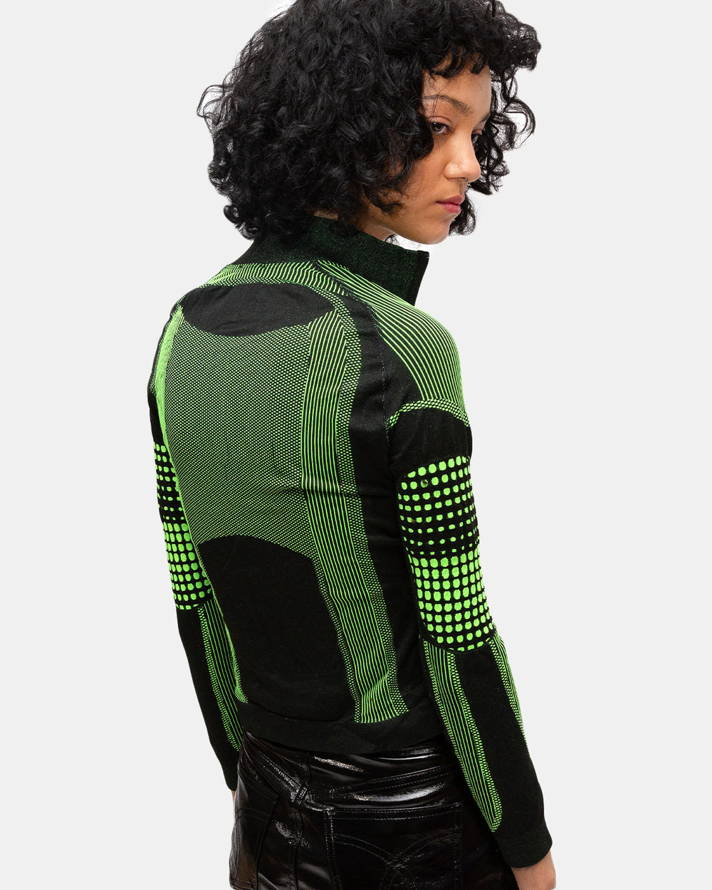 MISBHV - Women's Active Future Long Sleeve Top (Black | Green)