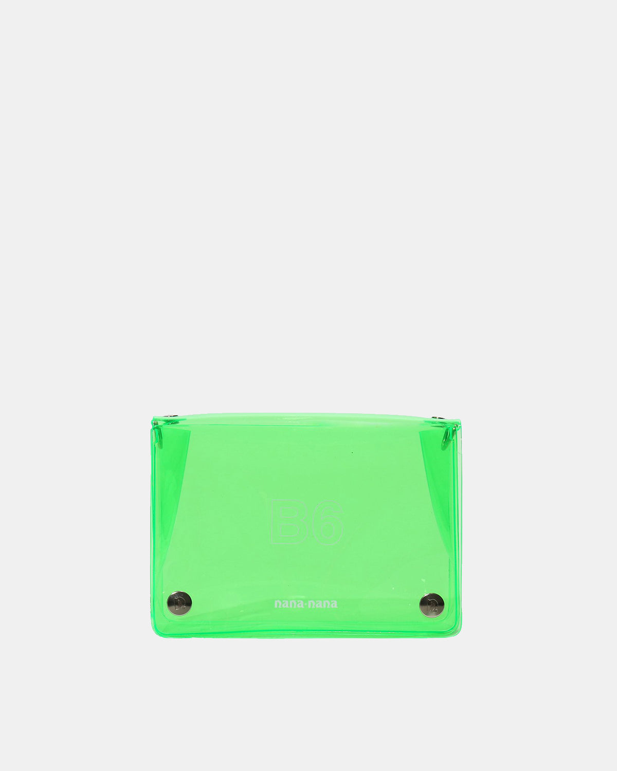 nana-nana - B6 PVC Bag (Neon Green)