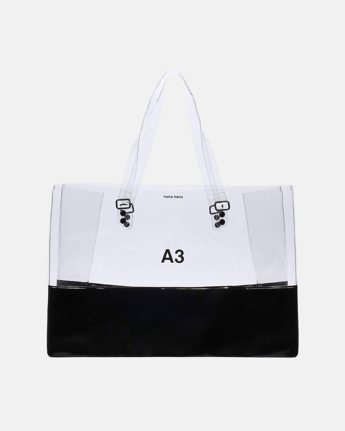 nana-nana - PVC x Opaque A3 Bag (Clear | Black)