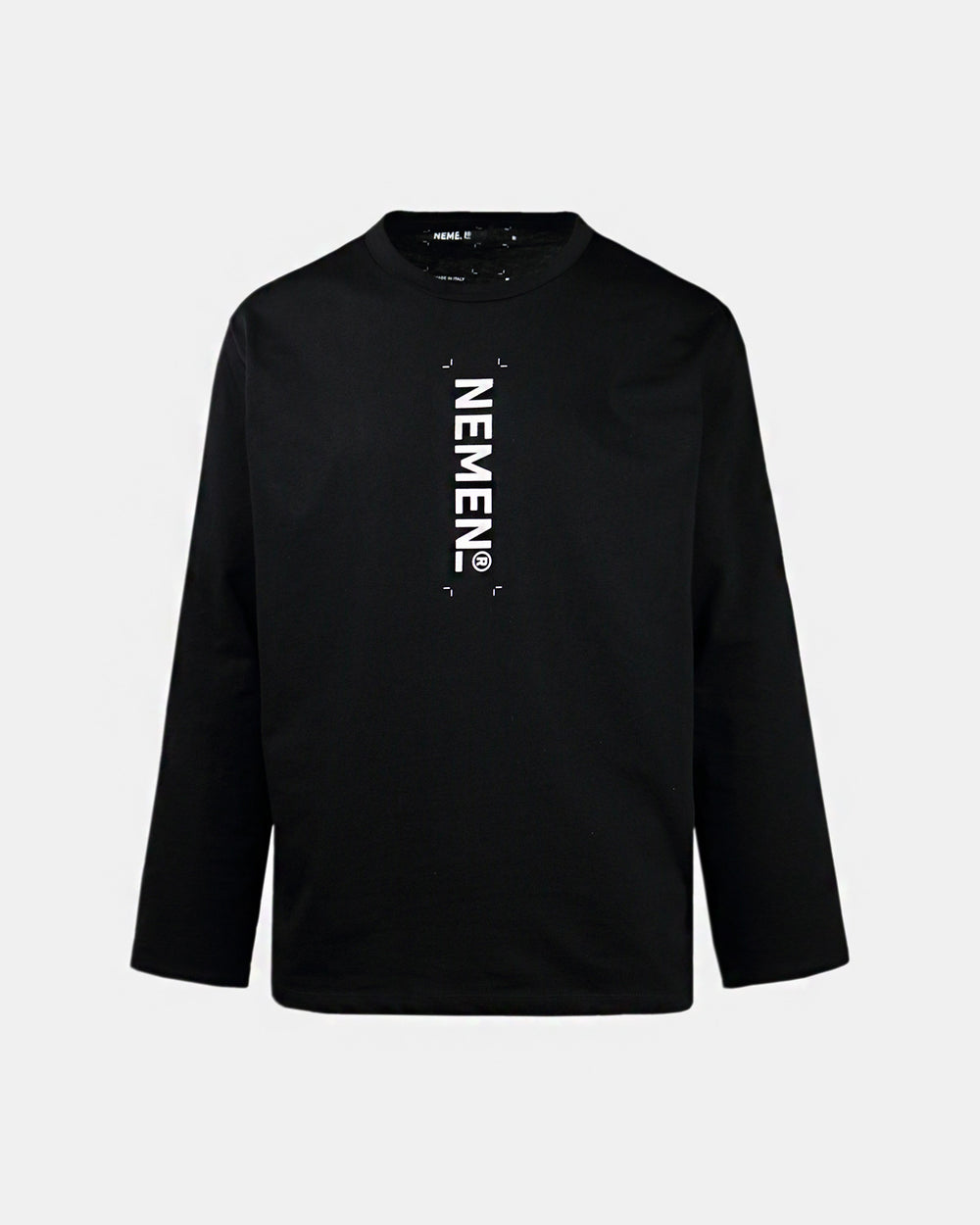 Nemen - Printed Logo Long Sleeve Tee (Black)