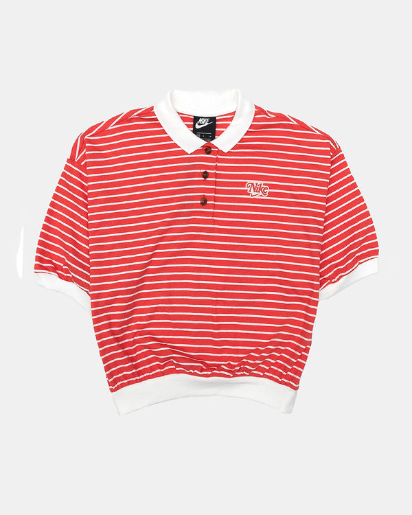 Women's NSW Striped Polo Shirt (Red)