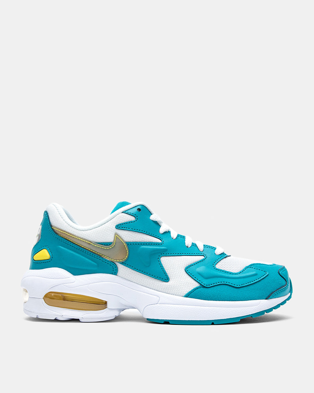 Nike - Air Max2 Light (White | Teal Nebula | Metallic Silver | Dynamic Yellow)