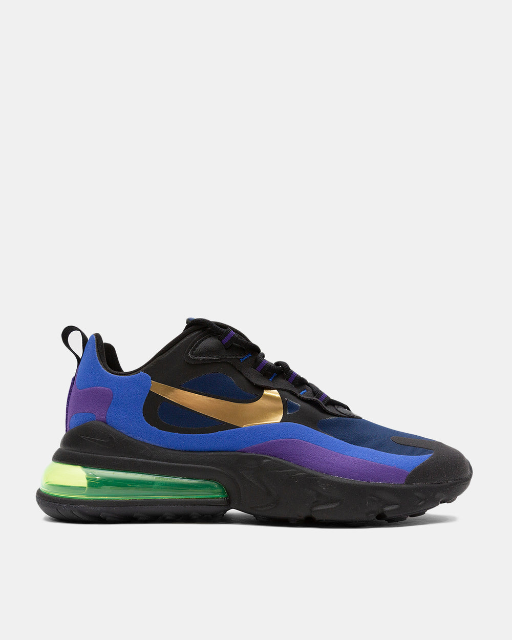 Nike - Air Max 270 React (Black | University Gold | Deep Royal)