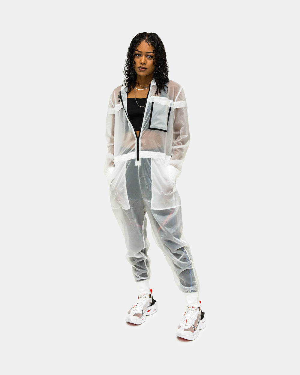 Nike - Women's Nike Air Jumpsuit (White | Black)