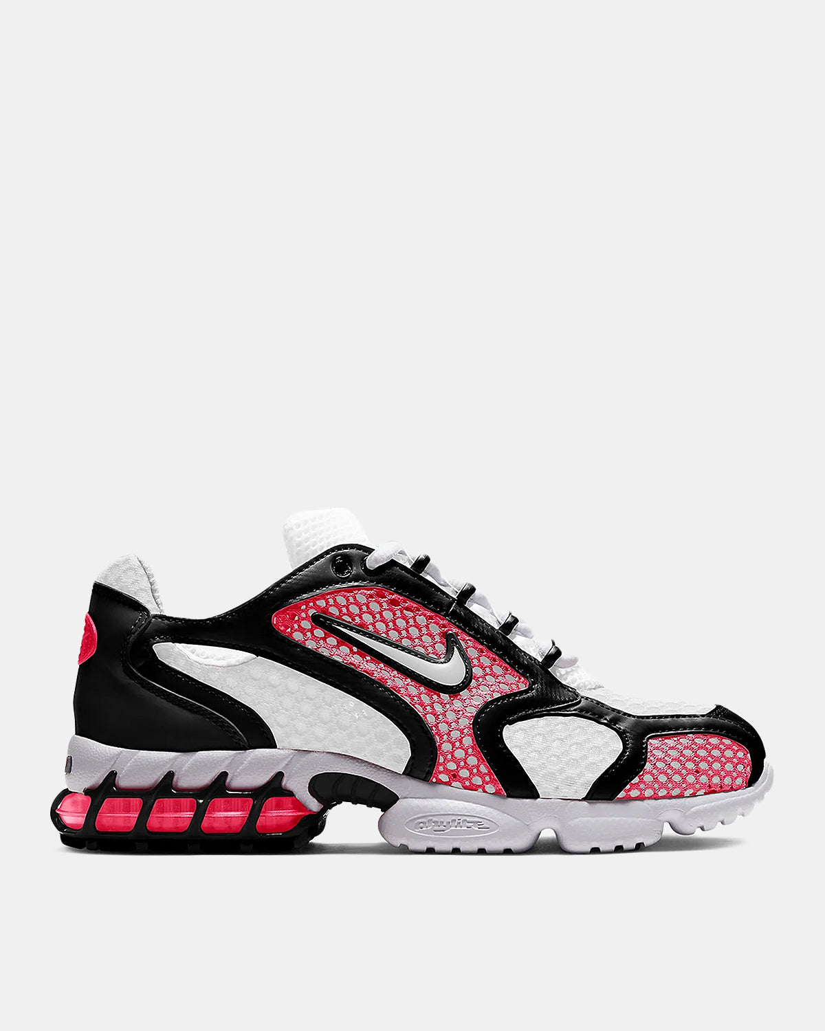 Women's Air Zoom Spiridon Cage 2 (White | Flash Crimson)