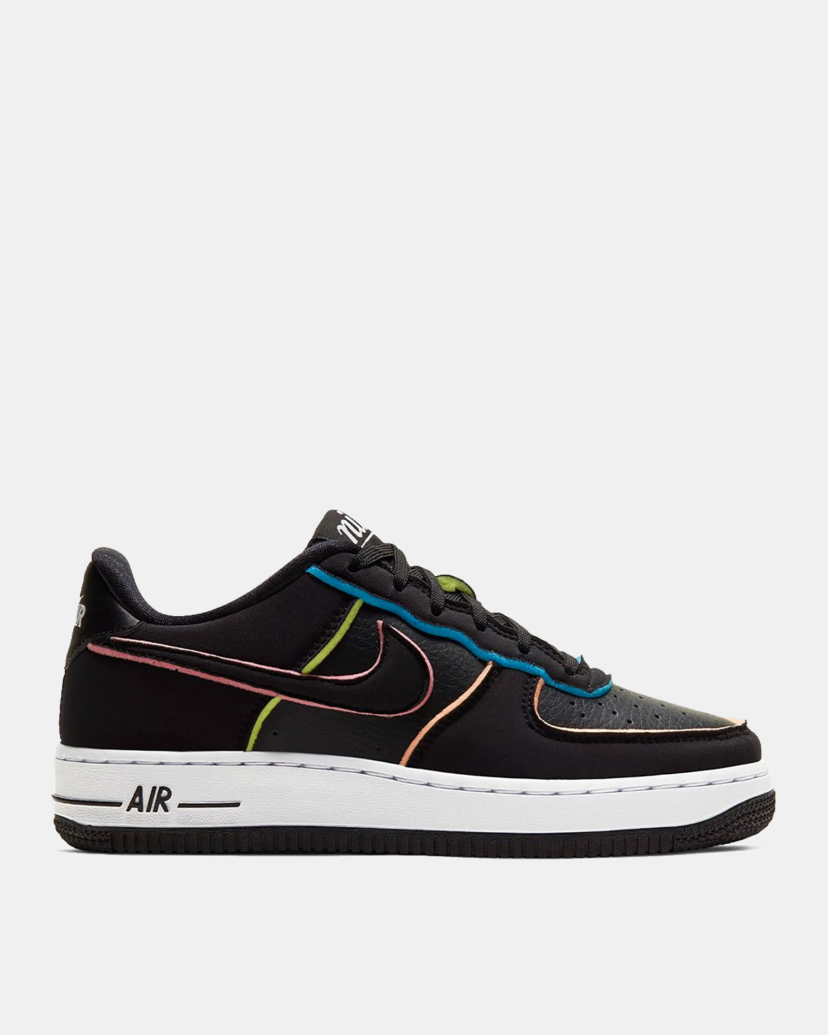 Grade School Air Force 1 LV8 (Black | Pink | Barely Volt)