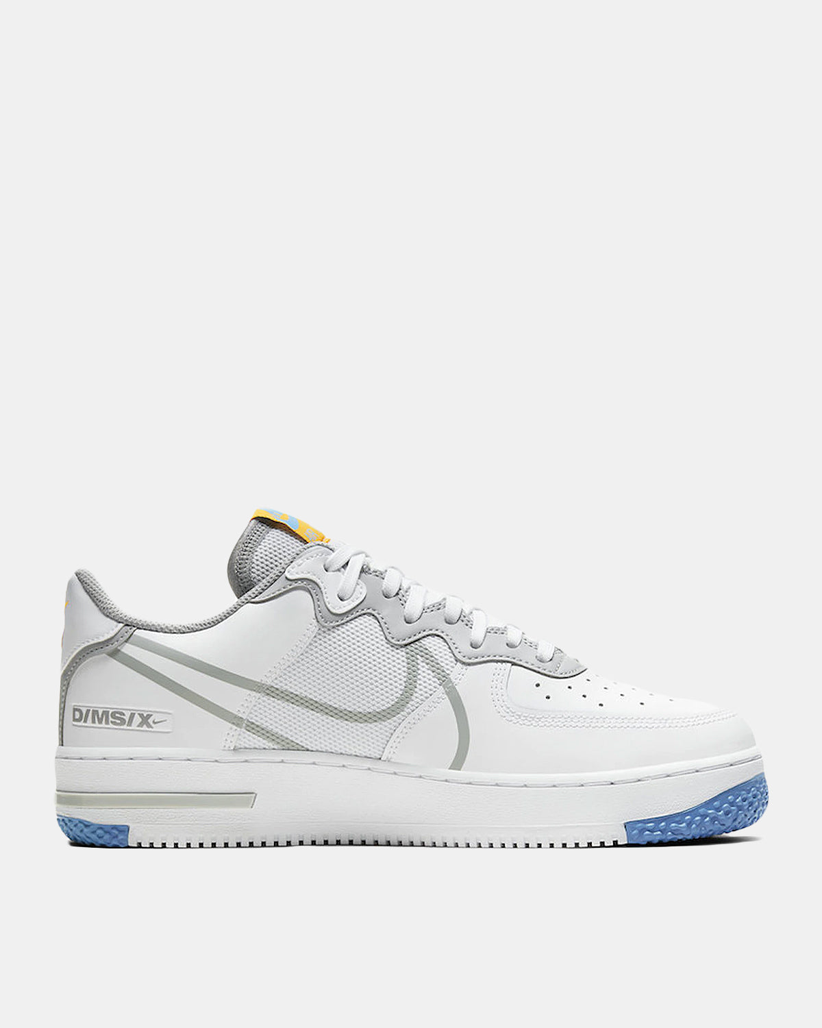 Air Force 1 React (White | Light Smoke Grey | Univeristy Gold)