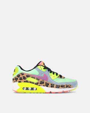Women's Air Max 90 LX (Illusion Green | Sunset Pulse | Black | White)