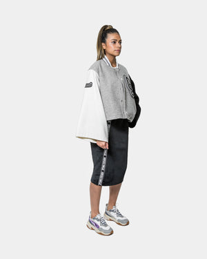 Opening Ceremony - Women's Wool Cropped OC Varsity Jacket (Heather Grey)