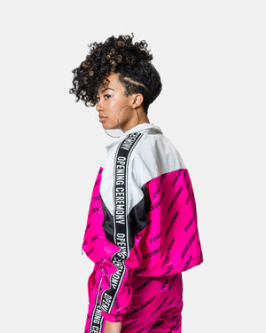 Opening Ceremony - Women's Cropped Warm Up Jacket (Magenta | Multi)