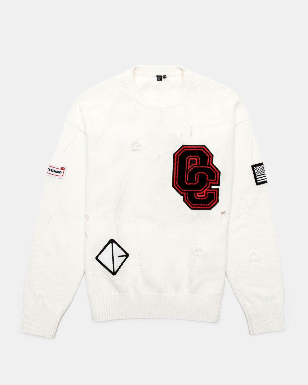 Opening Ceremony - Varsity Sweater (White)