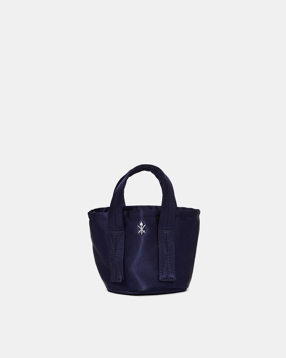 Opening Ceremony - Satin Mini Bucket Bag (Navy)