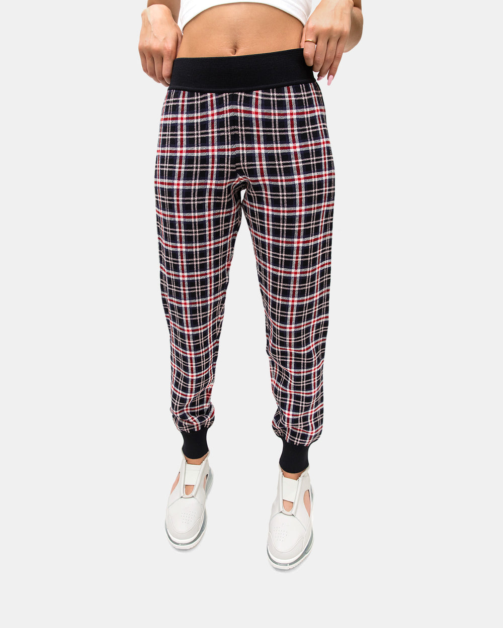 Opening Ceremony - Women's Plaid Knit Jogger Pants (Collegiate Navy | Multi)