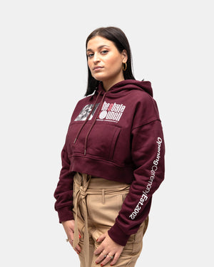 Opening Ceremony - Women's Style Council Cropped Hoodie (Prune)
