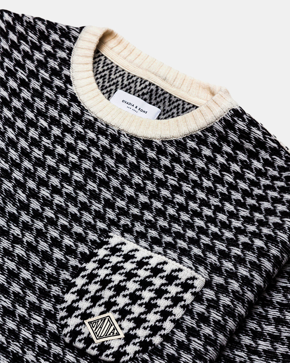Ovadia & Sons - Houndstooth Oversized Sweater (Black | White)