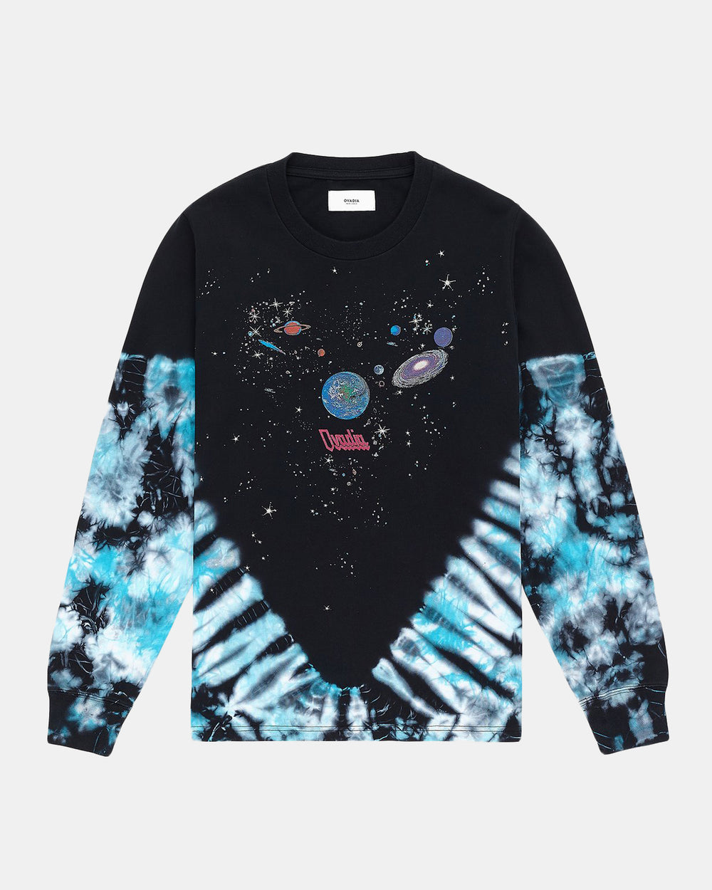 Ovadia - Planets Dyed Long Sleeve Tee (Black | Tie Dye)
