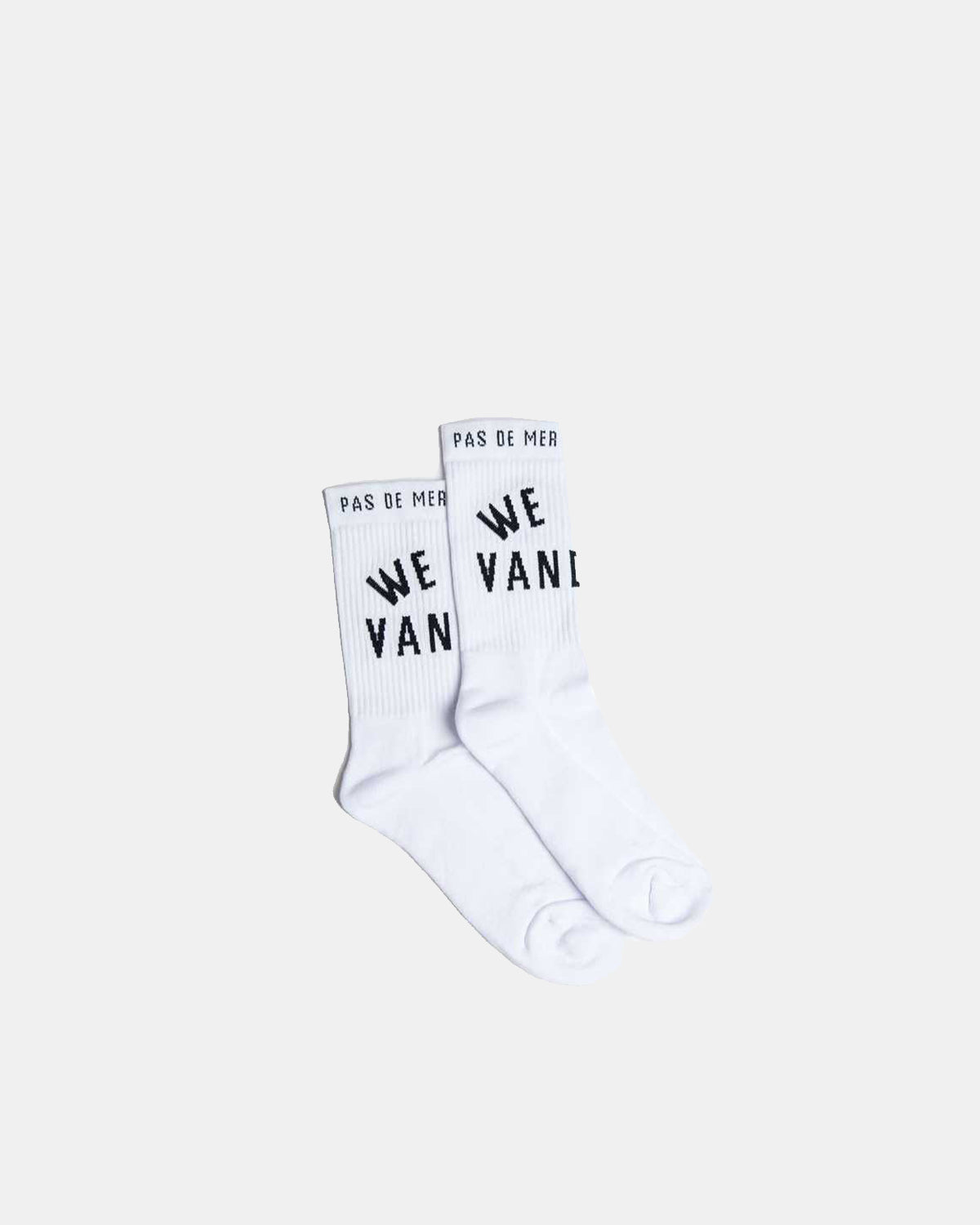 Pas de Mer - We Are Vandals Socks (White)