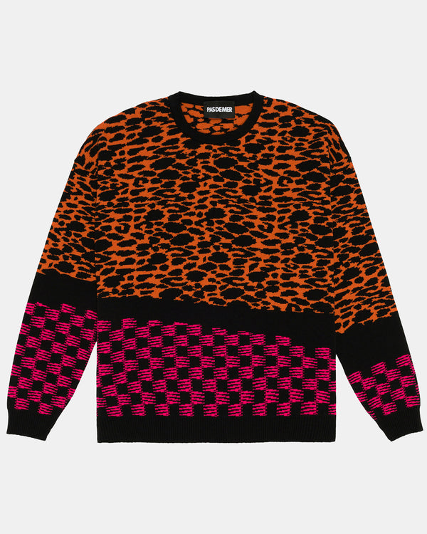 Agua Santa Knit Sweater (Orange | Black)