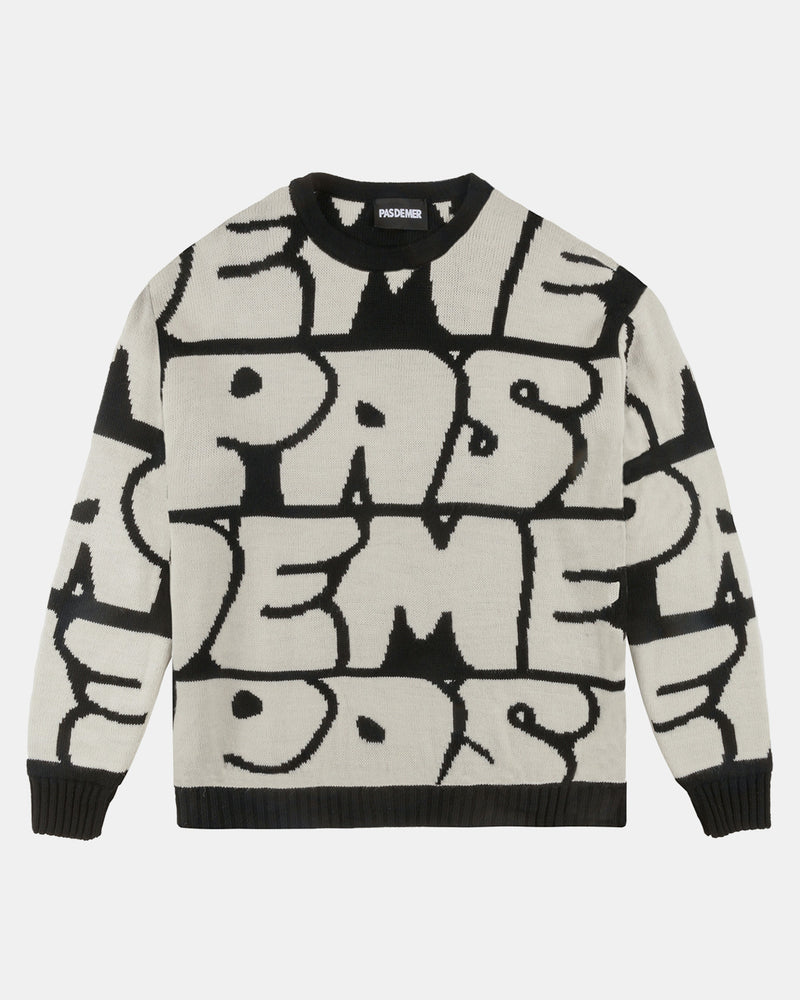 Graffitti Knit Sweater (AOP)