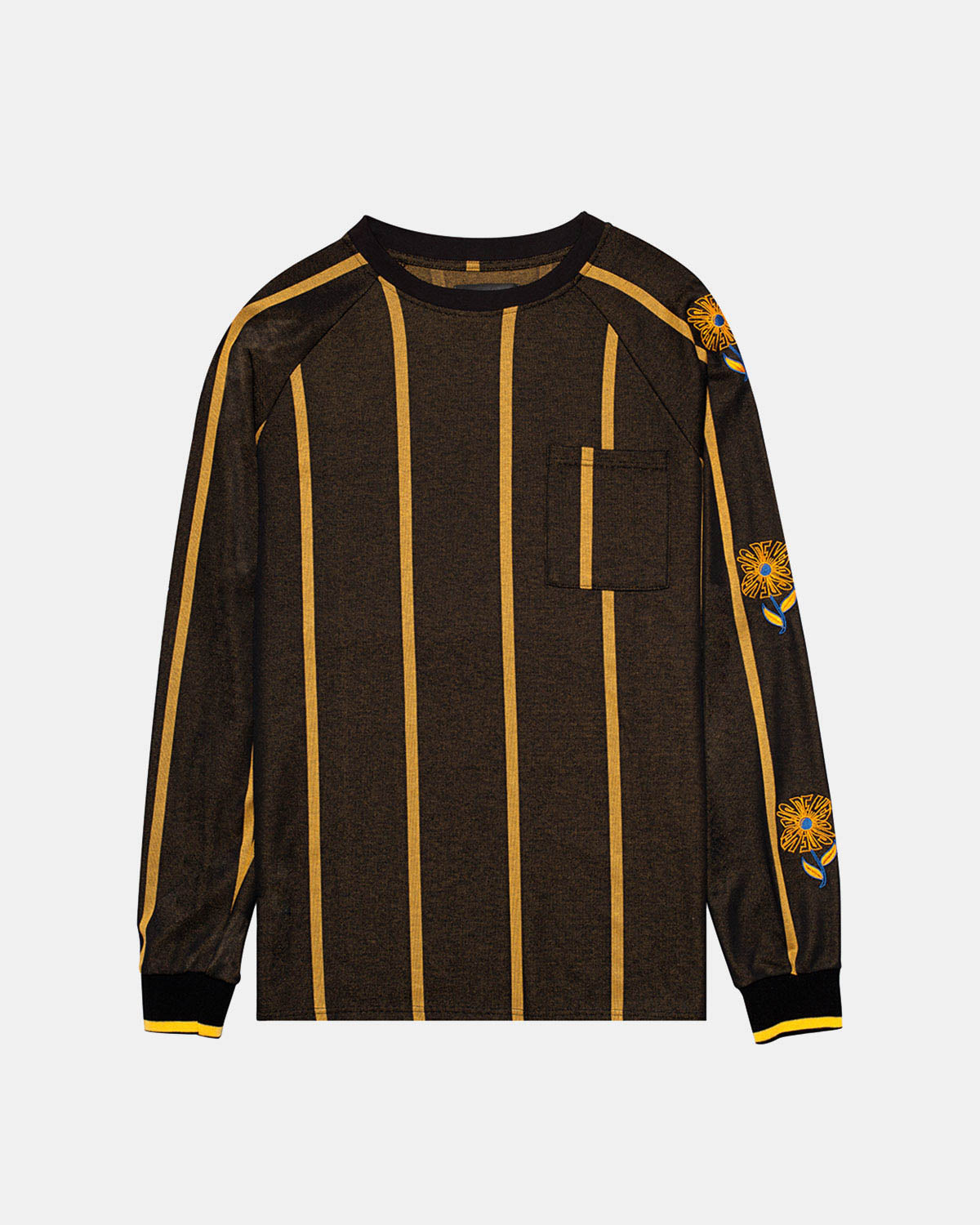 Pas de Mer - Wrong Place Long Sleeve Tee (Black | Yellow)