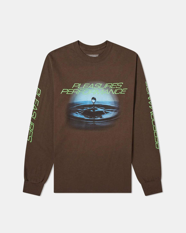 Performance Long Sleeve Tee (Chocolate)