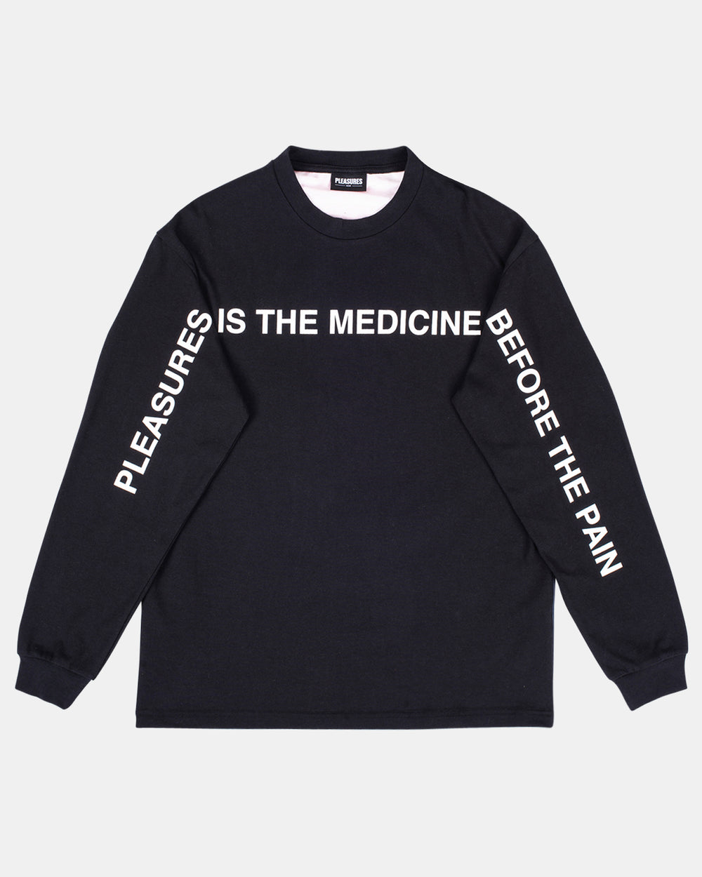 PLEASURES - Medicine Premium Long Sleeve Tee (Black)