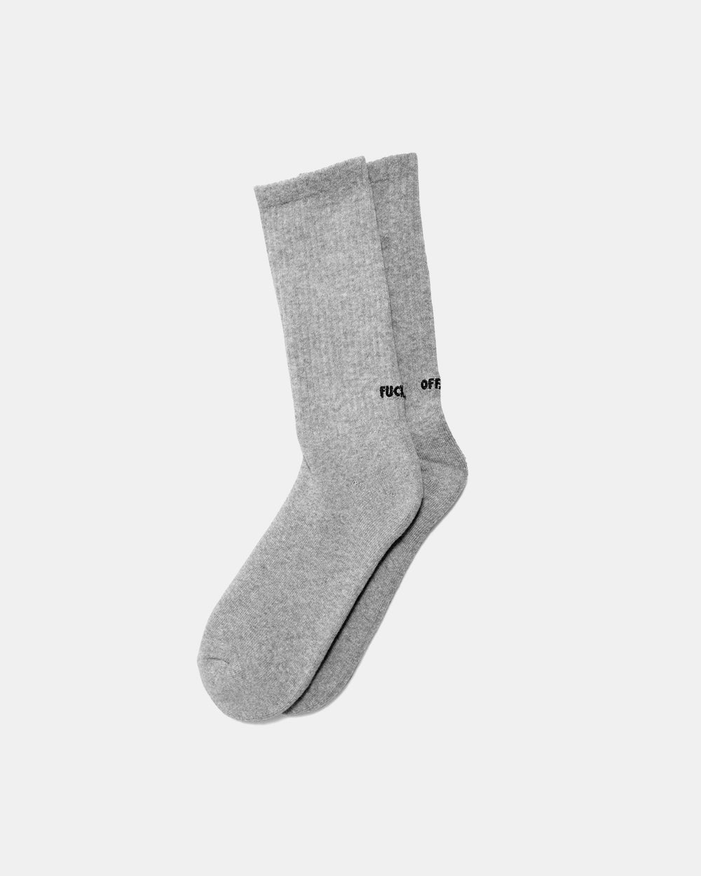 Raised by Wolves - Fuck Off Socks (Heather Grey)