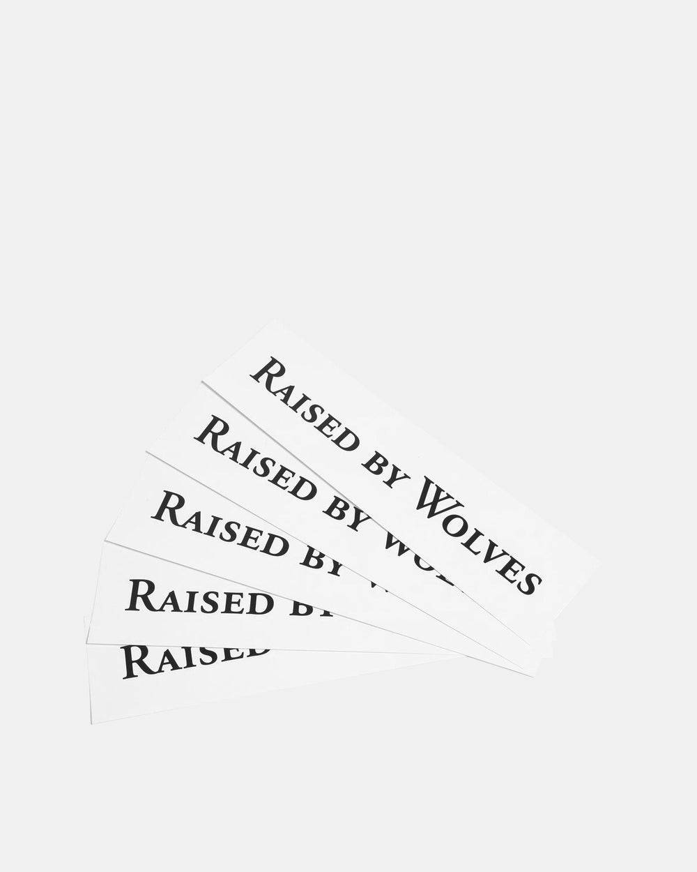 Raised by Wolves - Logotype Stickers (5 Pack)