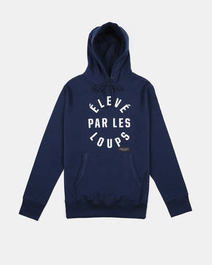 Raised By Wolves - Eleve Par Les Loups Hooded Sweatshirt (Navy | Blue)