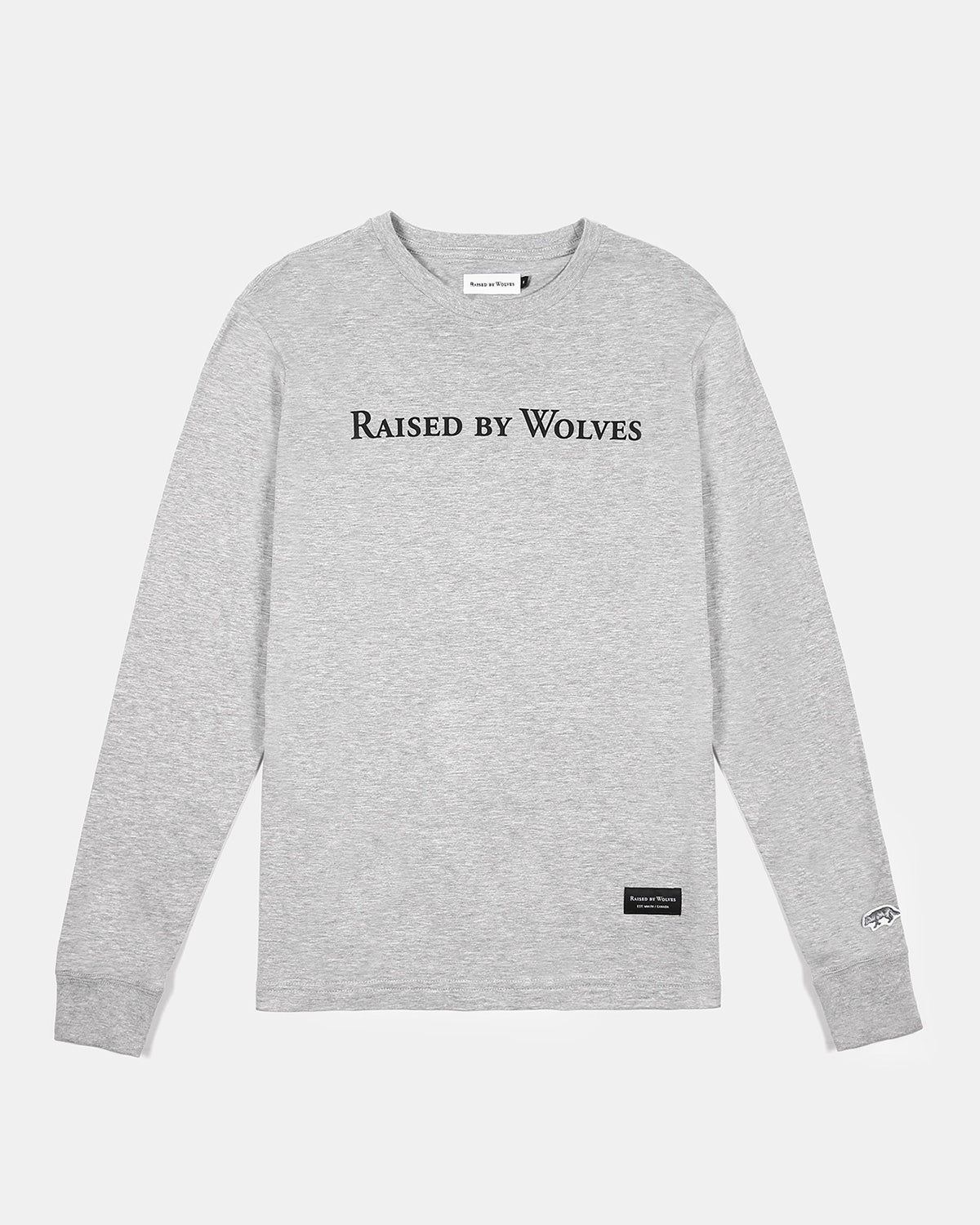 Raised by Wolves - Geowulf Long Sleeve T-Shirt (Heather Grey)