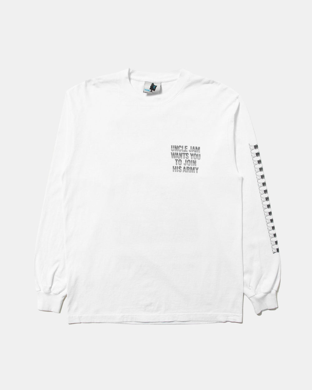 Real Bad Man - Uncle Jam Tribute Long Sleeve Tee (White)