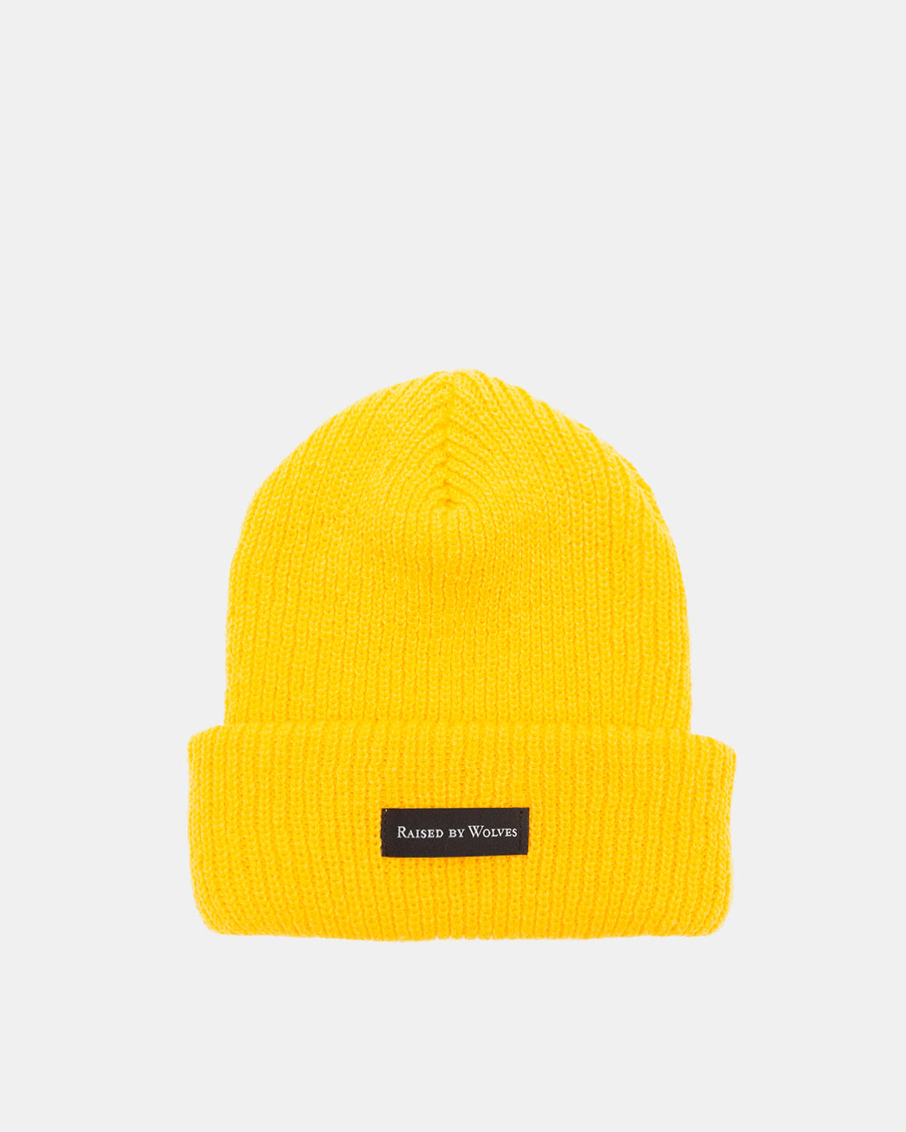 Raised by Wolves - Waffle Knit Watch Cap (Mustard)