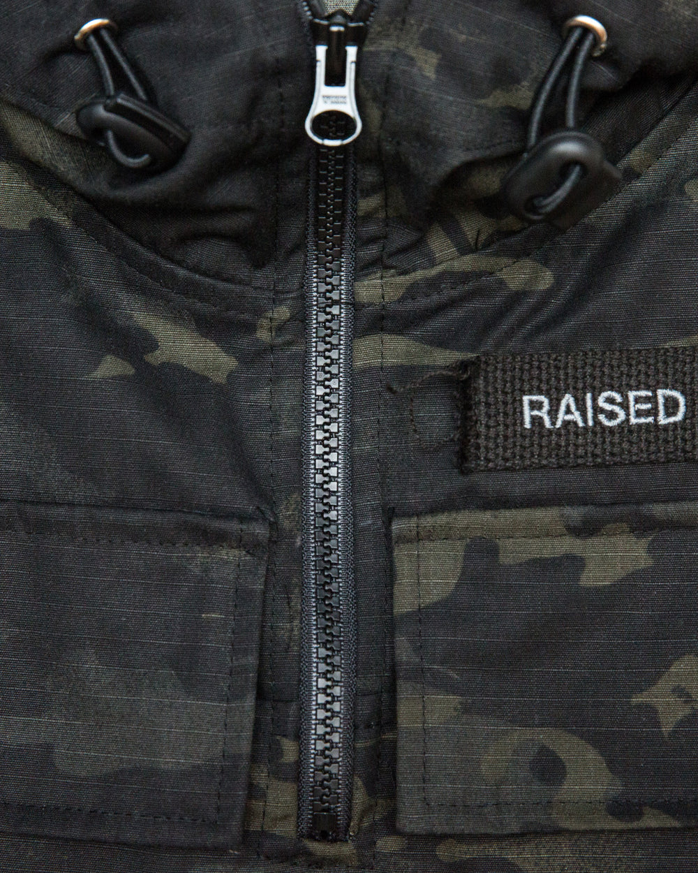 Raised by Wolves - Kingston Anorak Jacket (Black Camo)