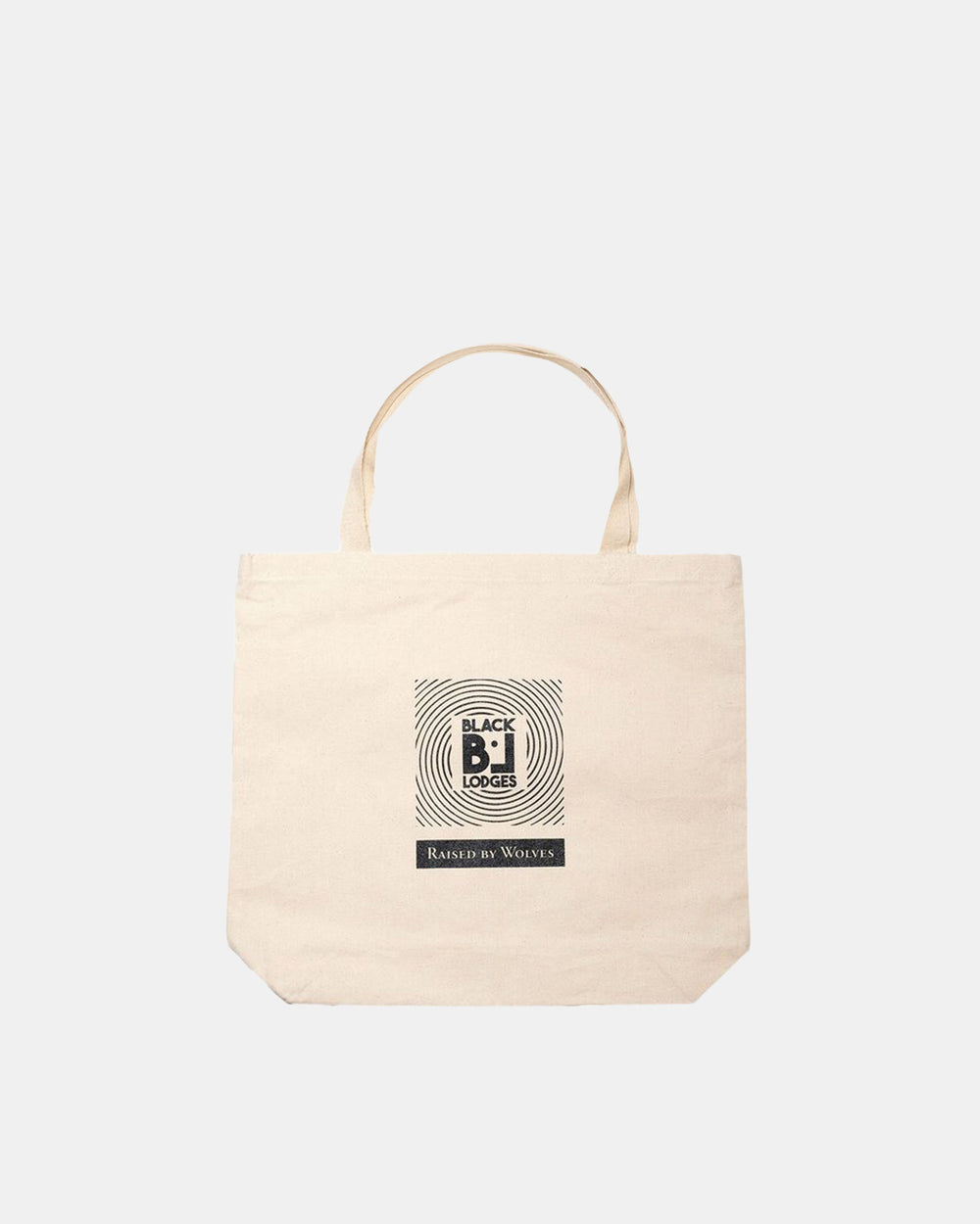 Raised by Wolves - RBW/Black Lodges Tote Bag (Natural)