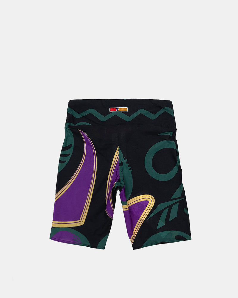 Women's Pyer Moss Biker Shorts (Black | Green | Purple)