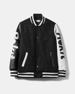 Rokit - Courtside Varsity Jacket (Black)