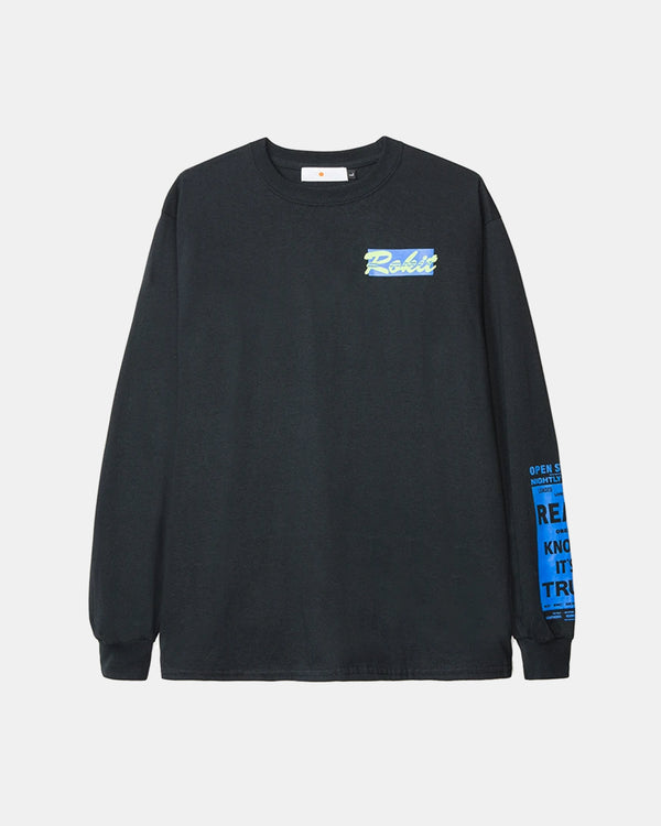 Sweet Nuthin Long Sleeve Tee (Black)
