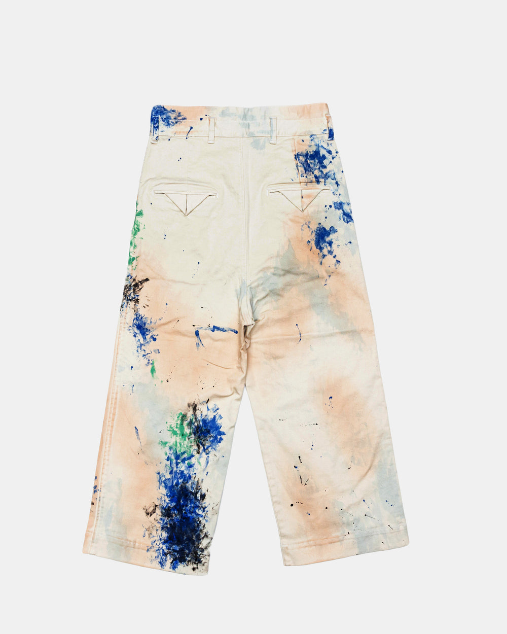 Sasquatchfabrix - Paint Docan Pants (White | Paint Splatter)