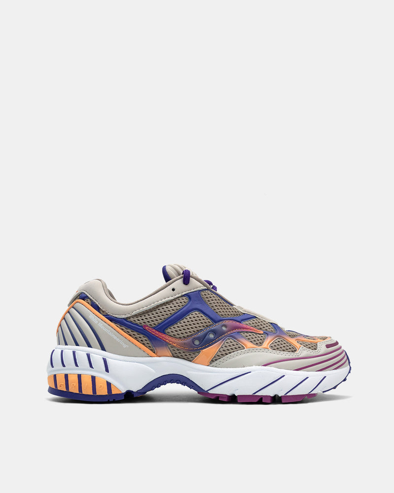 White Mountaineering x Saucony Knitted 'Grid Web' (Tan | Orange | Purple)