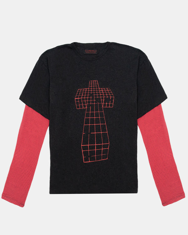 Justice Double Layer Long Sleeve (Black | Red)